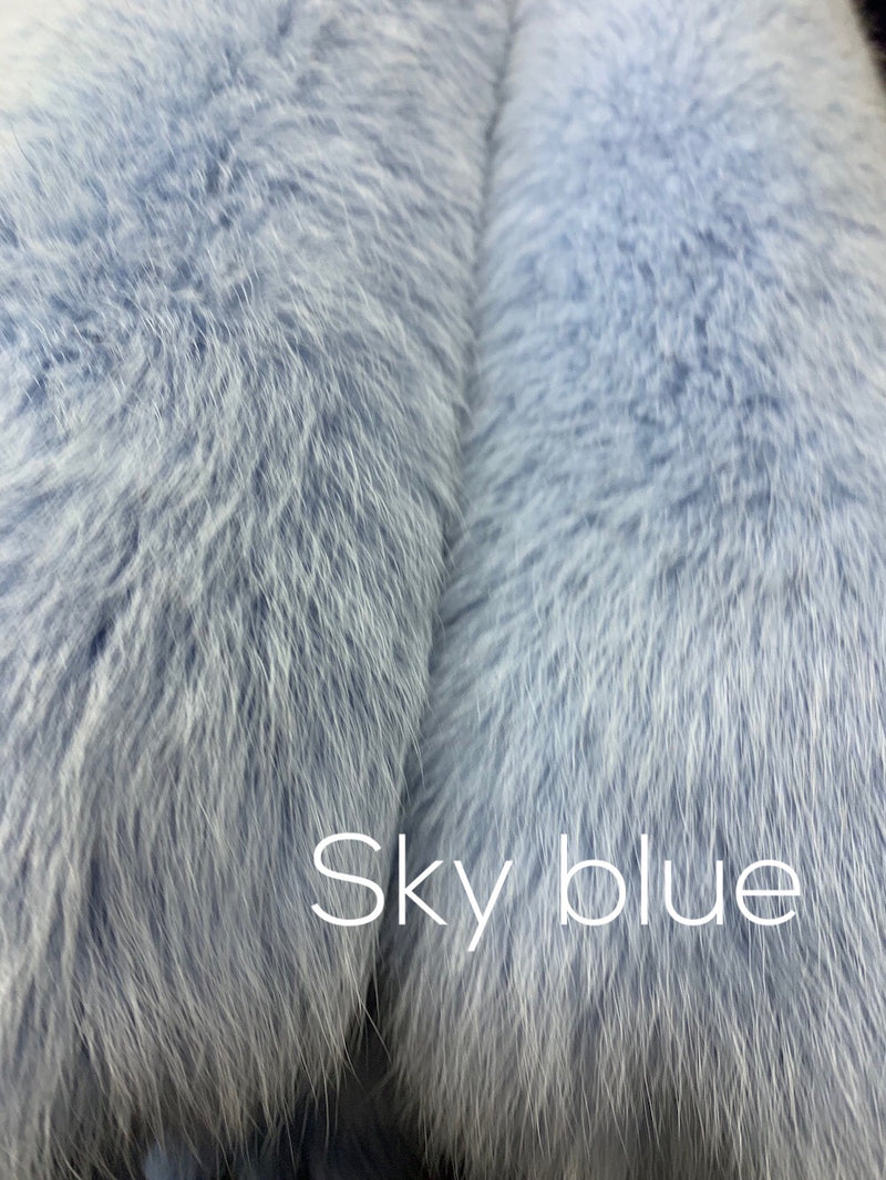 Dyed Blue Fox Fur - Bill Worb Furs Inc.