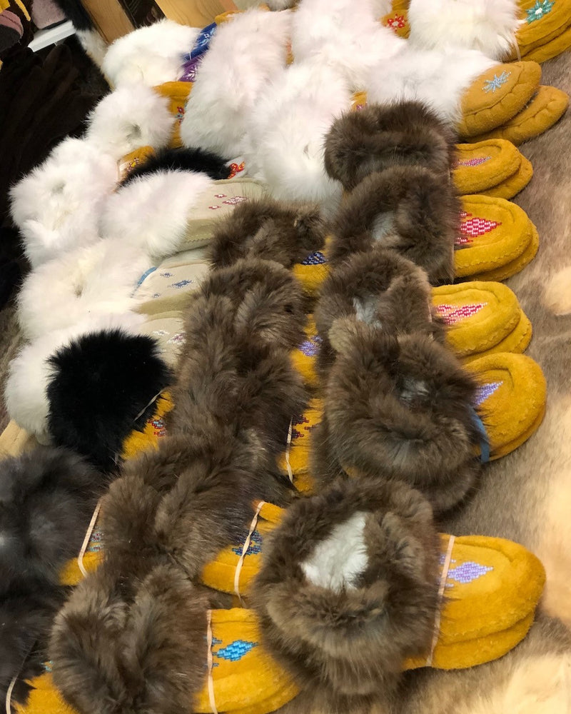 Children's Leather and Fur Moccasins - Bill Worb Furs Inc.