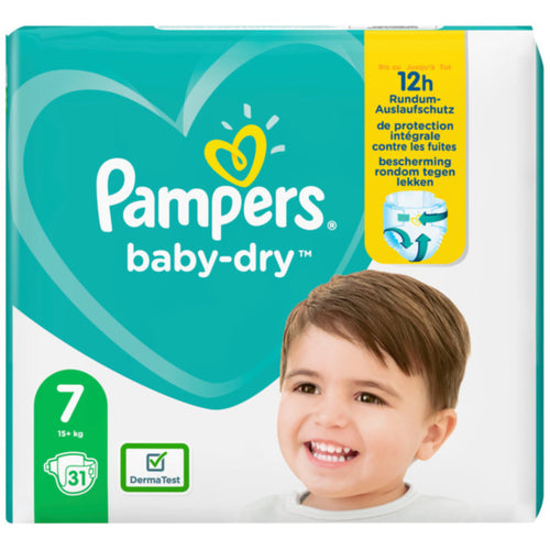 PAMPERS Baby Dry Gr.7 Extra Large 15+kg 31 Stück