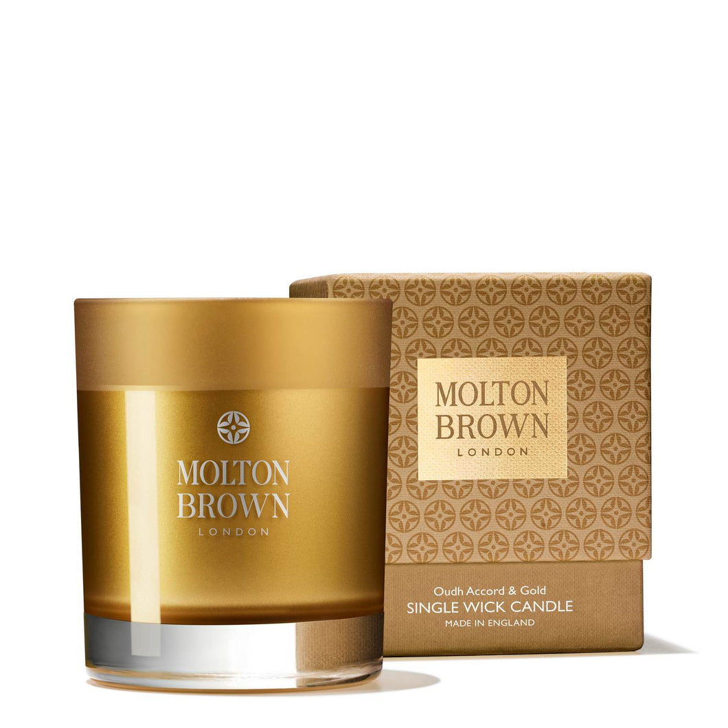 MOLTON BROWN Oudh Accord & Gold Candle Duftkerze - DrogerieMarkt24
