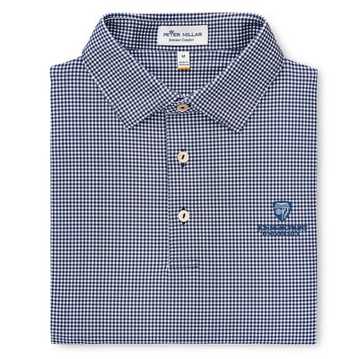 "Peter Millar ""Greek Gingham"" Stretch Jersey Polo"