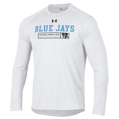 Under Armour Hopkins Blue Jays Long Sleeve Tech T-Shirts White