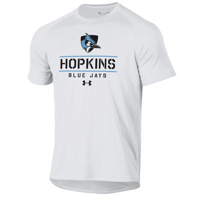 Under Armour Hopkins Blue Jays Short Sleeve Tech T-Shirts White