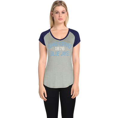 Alta Gracia Women's Colorblock V Neck T-Shirt