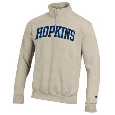 "Champion® Fleece Quarter Zip Pullover Oatmeal ""Arched Hopkins"""