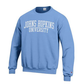 Champion® ''Johns Hopkins University'' Crewneck Light Blue