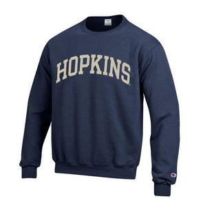 Champion® ''Hopkins'' Navy Fleece Crewneck Versa Twill