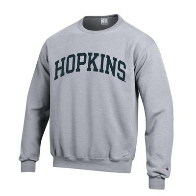 Champion® ''Hopkins'' Grey Fleece Crewneck Versa Twill