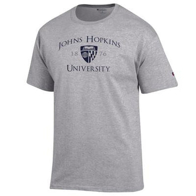 Champion® Johns Hopkins ''1876'' Short Sleeve Tee Grey