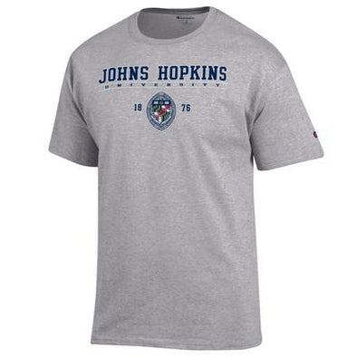 Champion® Johns Hopkins ''Seal'' Short Sleeve Tee Grey