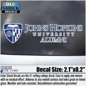 CDI Johns Hopkins Alumni ''Official'' Logo Decal
