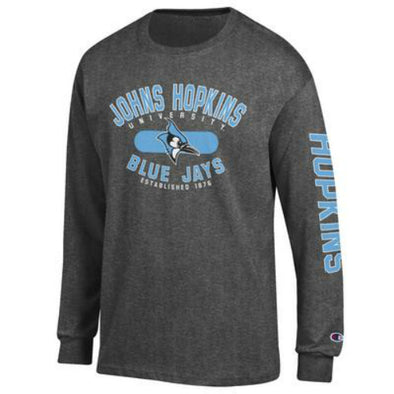 Johns Hopkins Blue Jays Long Sleeve Tee Granite