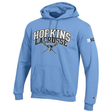 Hopkins Lacrosse ''Big Ten'' Fleece Hoodie Light Blue
