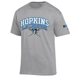 Hopkins Lacrosse ''Big Ten'' Short Sleeve Tee Grey