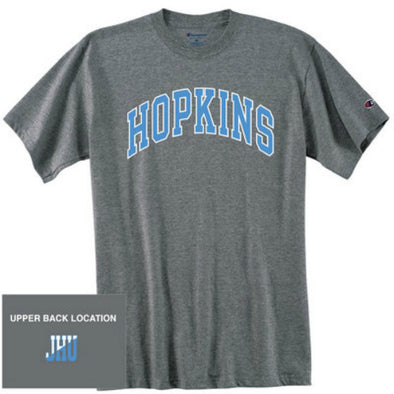 Champion® Arched ''Hopkins'' Short Sleeve Tee Granite