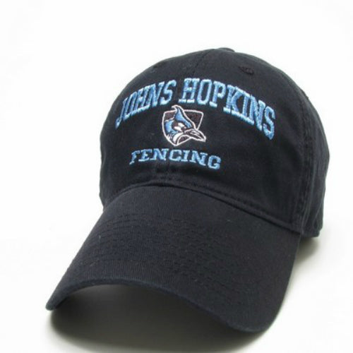 Johns Hopkins Shielded Blue Jay Fencing Hat