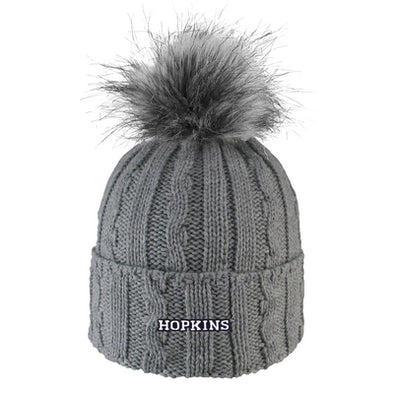 LogoFit Women's Cuff Hat with Faux Fur Pom