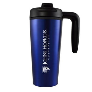LXG Travel Mug with Handle Official Logo Blue