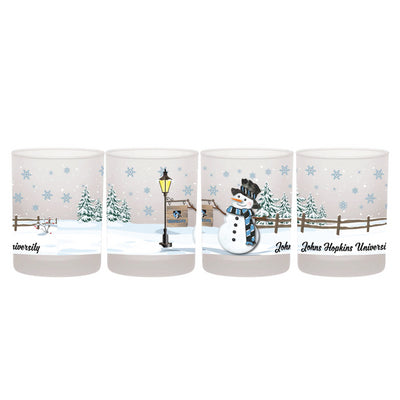 Johns Hopkins Frosted ''On the Rocks'' Glass