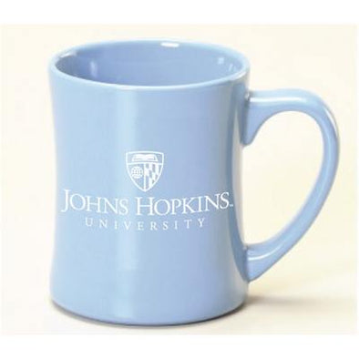 Johns Hopkins Glossy Diner Mug 16 oz. Light Blue