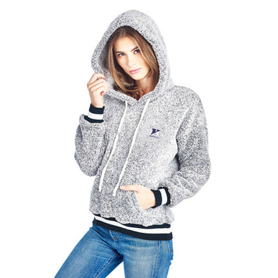 Spirit Clothing Womens Contrast Ribbed Fleece Hoodie