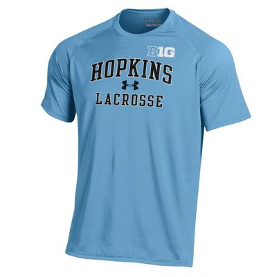 Under Armour Men's ''Big Ten'' Lacrosse Short Sleeve Tech Tee Light Blue