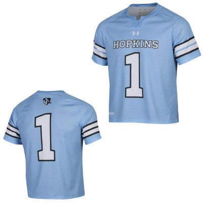 Under Armour Adult Replica Lacrosse Jersey Light Blue