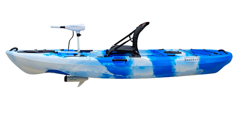 BKC PK11 Single Kayak with Trolling Motor - Brooklyn Kayak Company