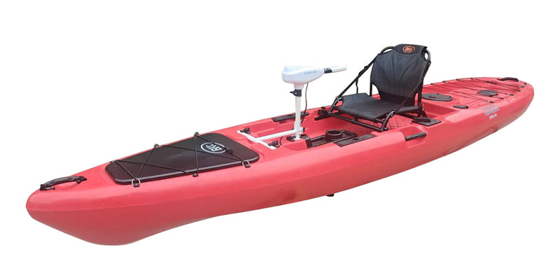 BKC PK13 Single Kayak with Trolling Motor - Brooklyn Kayak Company