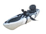BKC PK11 10.6' Single Propeller Pedal Drive Fishing Kayak W/ Rudder System, Paddle and Upright Back Support Aluminum Frame Seat Person Foot Operated Kayak - Brooklyn Kayak Company
