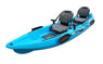 BKC TK122 Angler 12-foot, 8 inch Tandem 2 or 3 Person Sit On Top Coastal Cruiser Fishing Kayak w/ Upright Aluminum Frame Seats and Paddles
