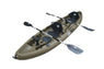 BKC TK219 12.5-foot Tandem 2 or 3 Person Sit On Top Fishing Kayak w/ Padded Seats and Paddles