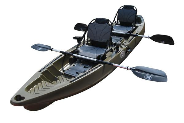 Bkc Tk122 Angler 12 Foot 8 Inch Tandem 2 Or 3 Person Sit On Top Coast