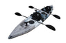 BKC TK181 12.5' Tandem Sit On Top Kayak W/ 2 Soft Padded Seats , Paddles ,7 Rod Holders Included 2 Person Kayak - Brooklyn Kayak Company