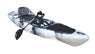 BKC PK13 13' Pedal Drive Fishing Kayak W/ Rudder System, Paddle, Upright Back Support Aluminum Frame Seat, 1 Person Foot Operated Kayak - Brooklyn Kayak Company