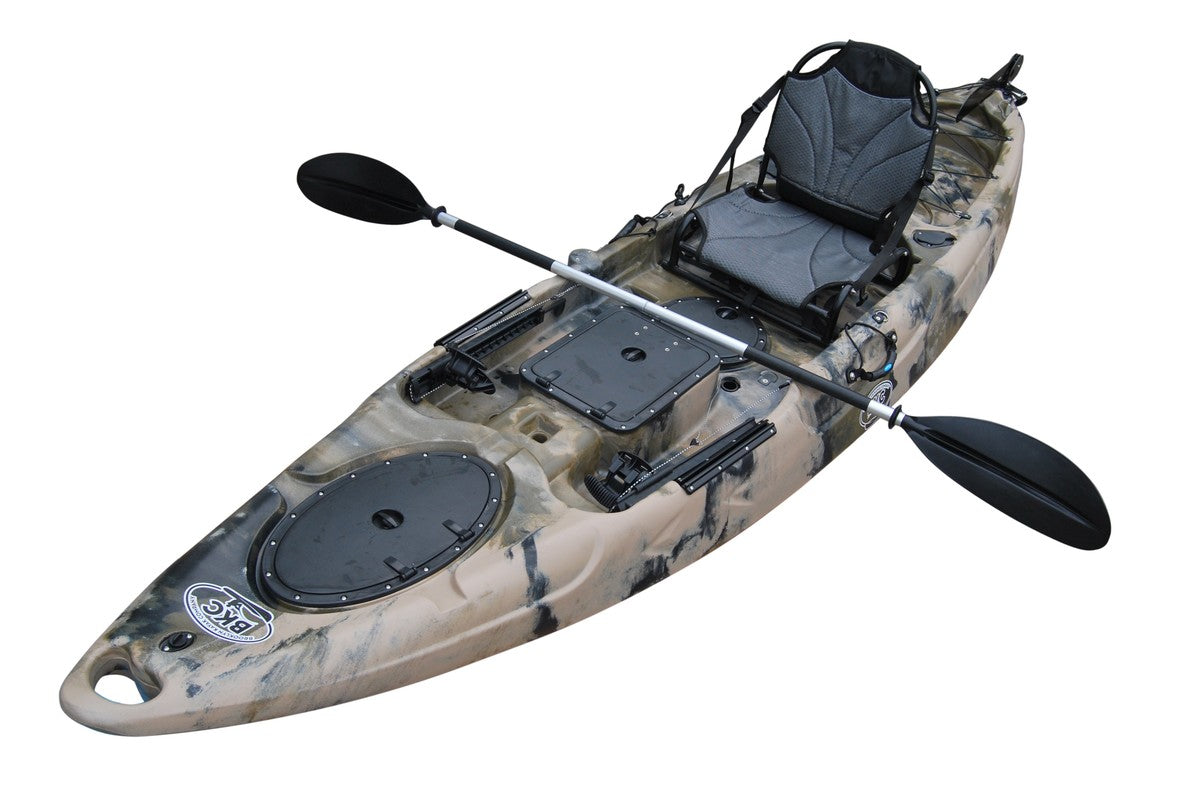 Bkc Ra220 11 5 Foot Single Sit On Top Angler Fishing Kayak W Upright