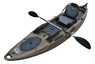 BKC RA220 11.6' Single Fishing Kayak  W/ Upright Back Support Aluminum Frame Seat,  Paddle, Rudder Included Solo Sit-On-Top Angler Kayak - Brooklyn Kayak Company