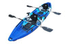 BKC TK122 12.9' Tandem Fishing Kayak W/ Soft Padded Seats, Paddles, 4 Rod Holders Included 2-3 Person Angler Kayak - Brooklyn Kayak Company