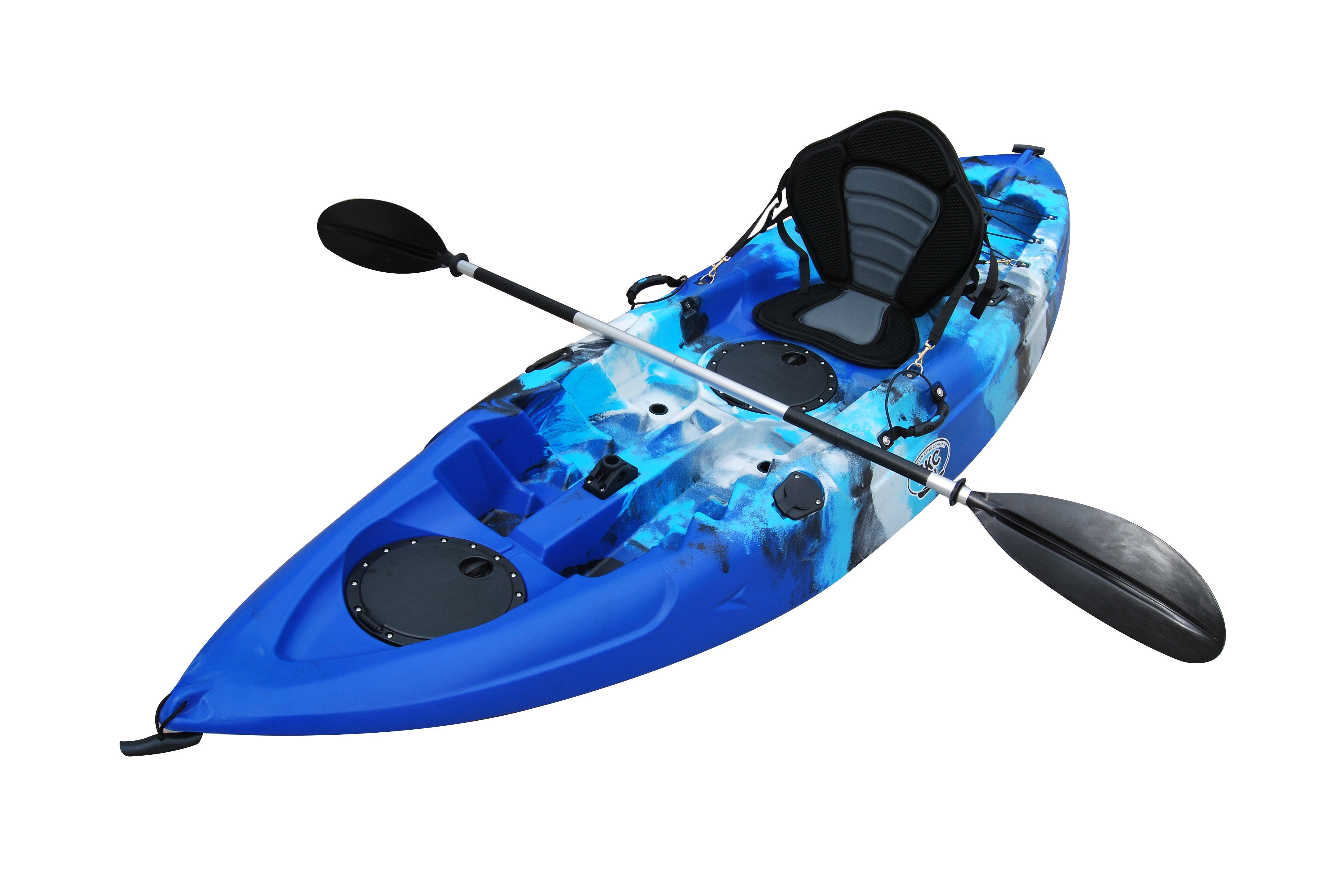Bkc Fk184 9 Single Sit On Top Fishing Kayak W Seat And Paddle Included Solo Sit On Top Angler Kayak