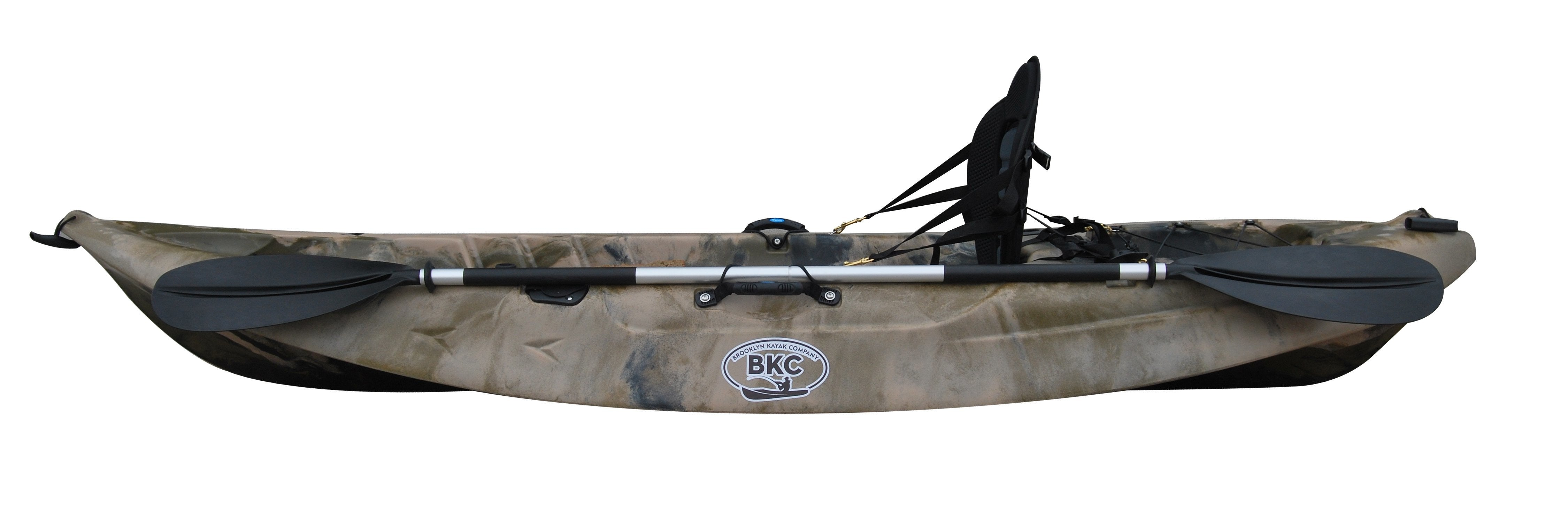 BKC FK184 9' Single Sit On Top Fishing Kayak W/ Seat and Paddle Included Solo Sit-On-Top Angler Kayak - Brooklyn Kayak Company