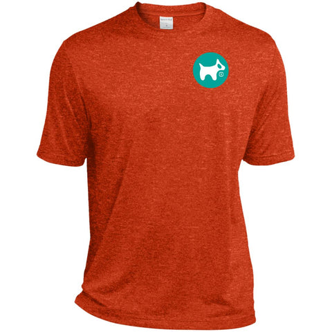Men's Dri-Fit Moisture-Wicking T-Shirt AQUA logo