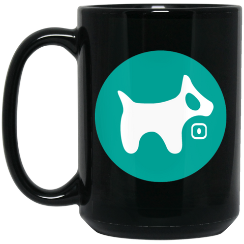 15 oz. Black Mug AQUA logo
