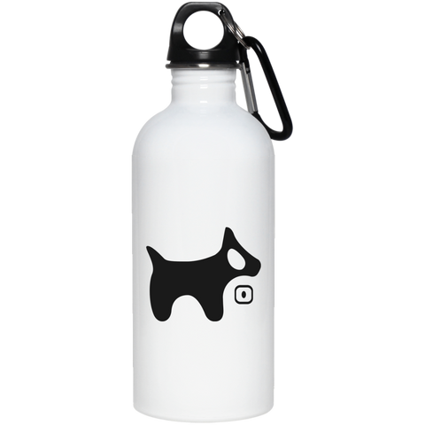 20 oz. Stainless Steel Water Bottle BLACK logo