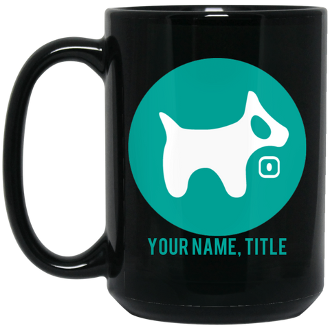 15 oz. Black Mug AQUA logo AQUA text