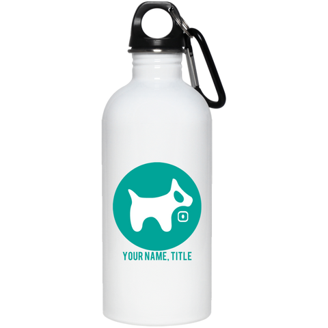 20 oz. Stainless Steel Water Bottle AQUA logo AQUA TEXT