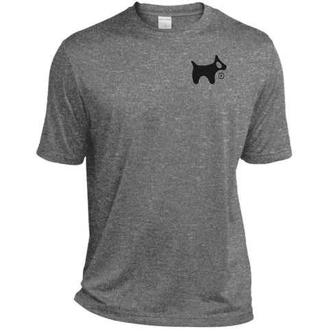 Men's Heather Dri-Fit Moisture-Wicking T-Shirt BLACK logo