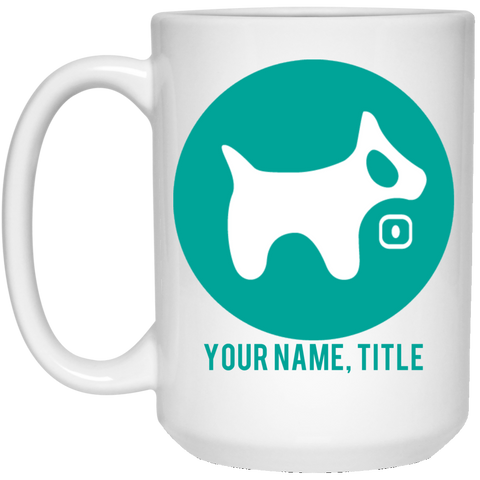 15 oz. White Mug AQUA logo AQUA TEXT