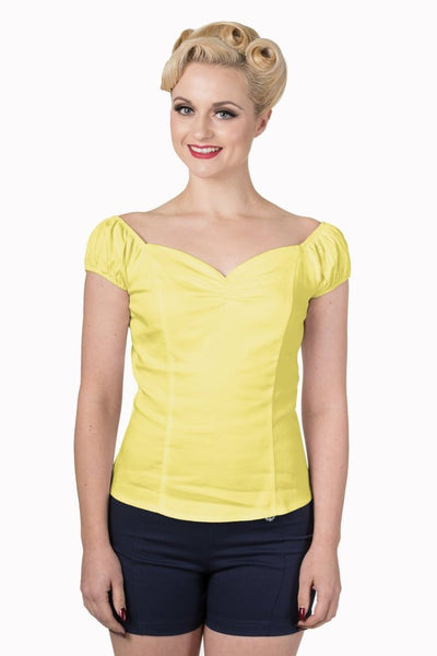 Winnie- Gypsey Top Yellow