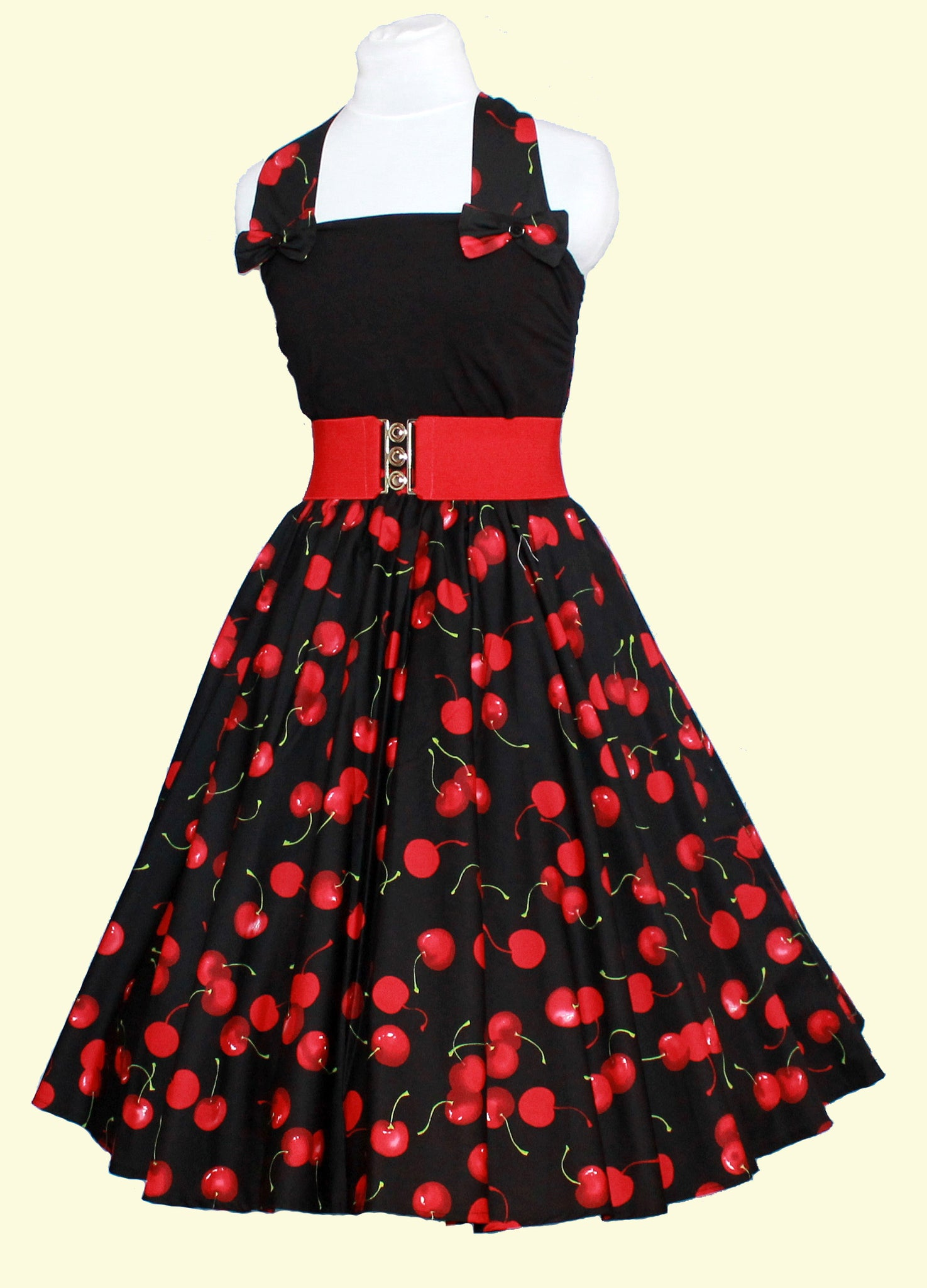 Peggy Circle Skirt- Large Black Cherry