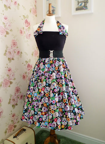 Peggy Circle Skirt- Sugar Skulls